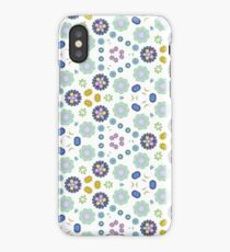 rainbow widescreen ornamental seamless colorful repeat pattern iPhone Case