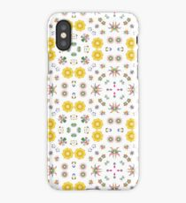 decorative colorful art seamless repeat pattern iPhone Case