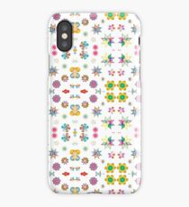 lovely things colorful rainbow widescreen prismatic abstract seamless repeat pattern iPhone Case