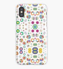 ornamental art 16 10 aspect ratio colorful seamless repeat pattern iPhone Case