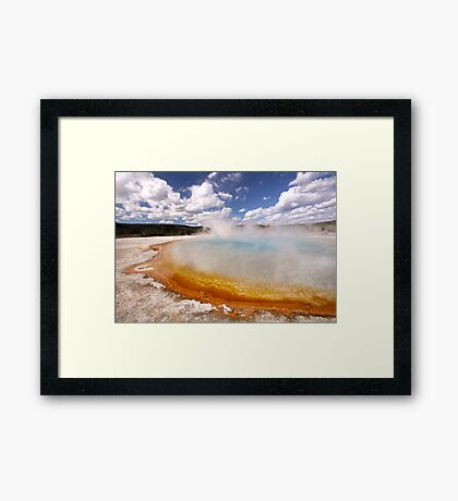 Sunset Lake, Yellowstone Framed Print