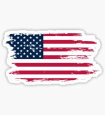 Vintage Distressed American Flag T-Shirts & Stickers Sticker