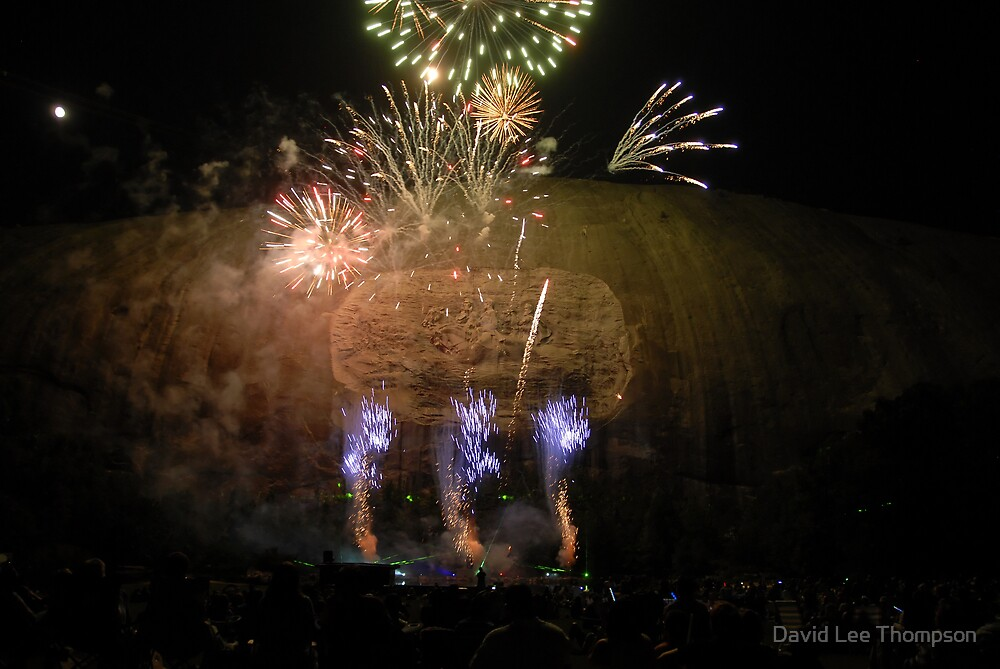 Stone Mountain Laser Light Show by David Lee Thompson