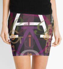Alphabet Typography Mini Skirt