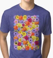 Mixed Floral Tri-blend T-Shirt