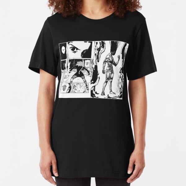 Hunter x Hunter - Gon vs Pitou (white) Slim Fit T-Shirt