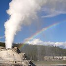 Rainbow and Castle Geyser by Gina Ruttle  (Whalegeek)