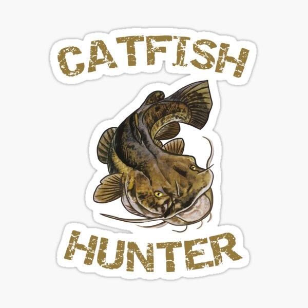 Chasseur de poisson-chat   Poisson-chat à tête plate Sticker