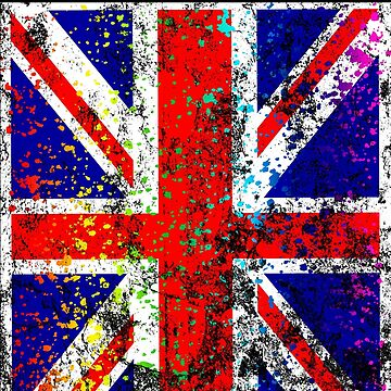 UK Great Britain Union Jack Shirt Flag Paint Splatter by 7United