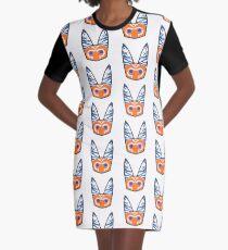 Lothcat Ahsoka Emoji Graphic T-Shirt Dress