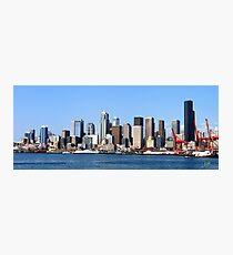 Seattle Skyline Fourteen Photographic Print