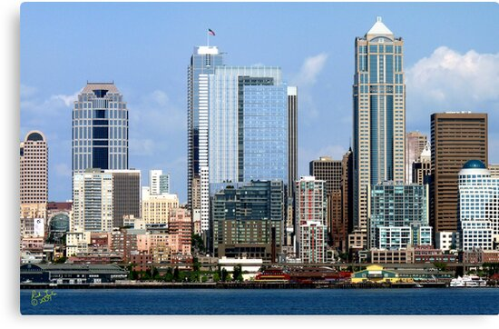 Seattle Skyline Twelve by Rick Lawler