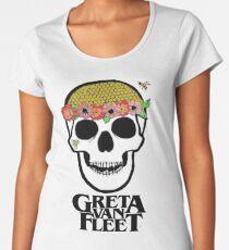 Greta van fleet flower power skull  Women's Premium T-Shirt