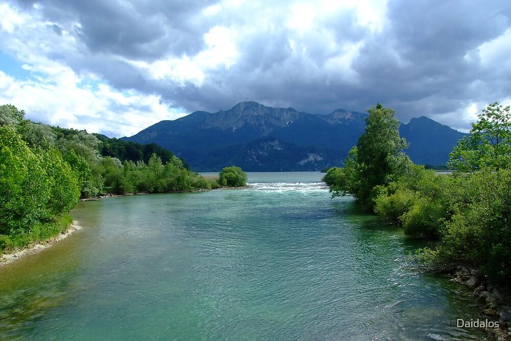 River Leaves the Lake I by Daidalos