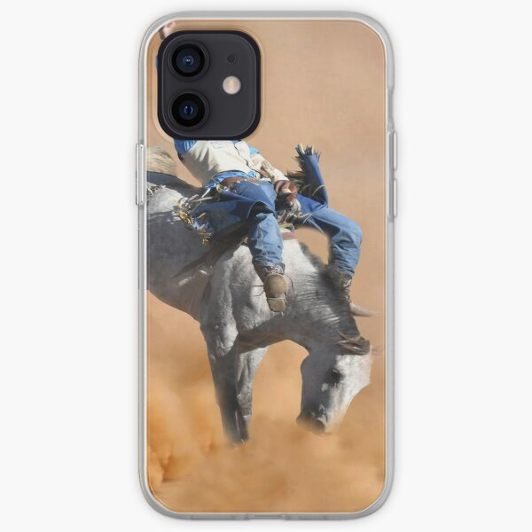 GET A GRIP, BUCKING BRONC iPhone Soft Case