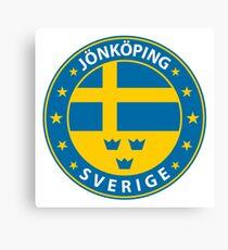 Jönköping, Jönköping Sweden, Jönköping sticker, City of Sweden Canvas Print