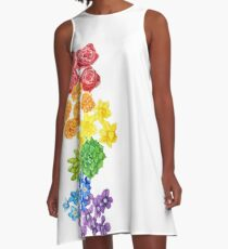 Floral - Gay Pride A-Line Dress