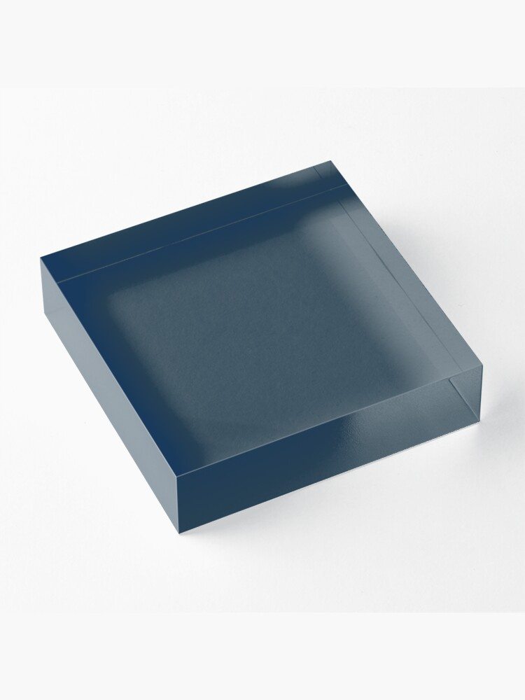Alternate view of Slate Gray | Solid Color Acrylic Block
