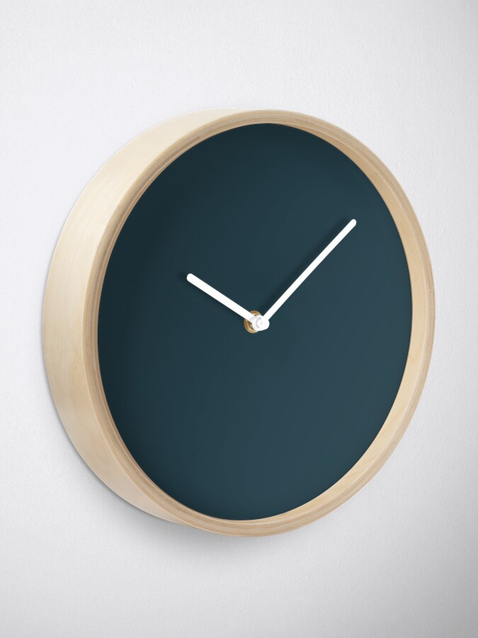 Alternate view of Slate Gray | Solid Color Clock