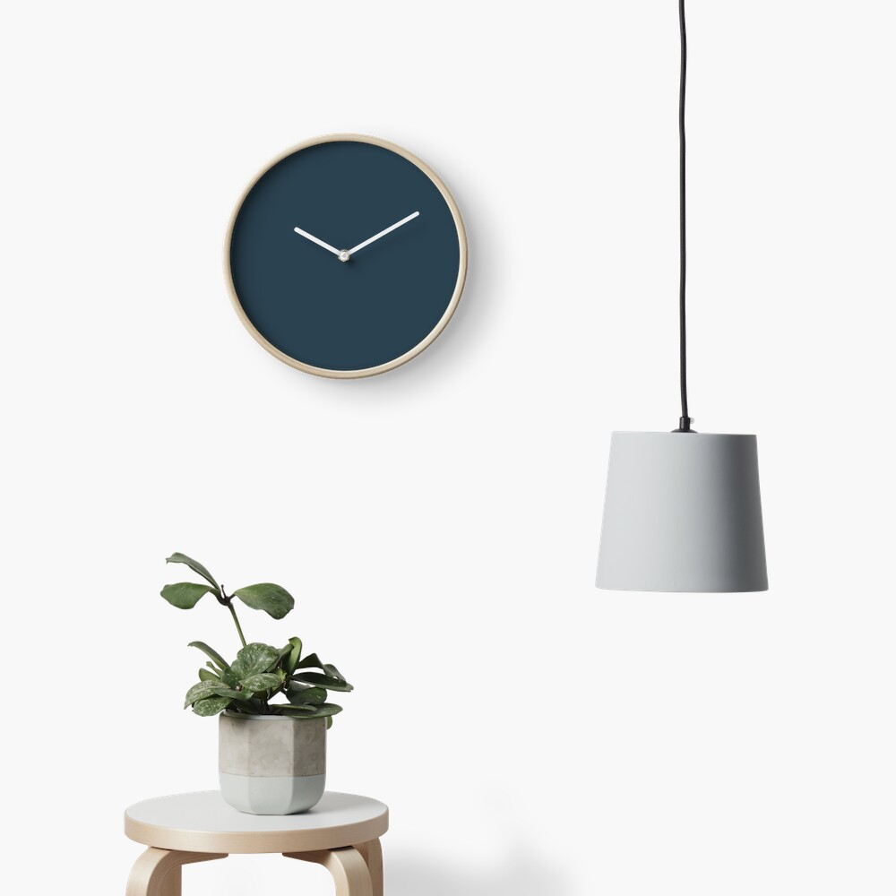 Slate Gray | Solid Color Clock