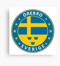 Örebro, Örebro Sweden, Örebro sticker, City of Sweden Canvas Print