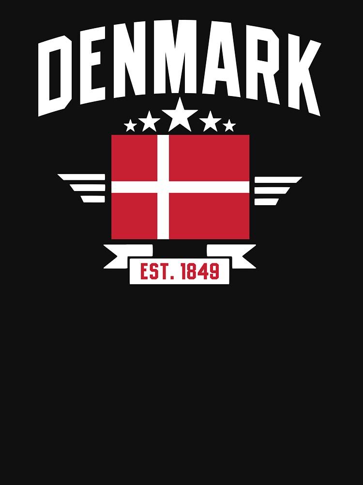 Denmark Est. 1849 Denmark flag t-shirt by mamatgaye