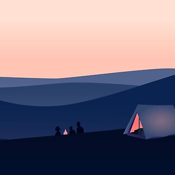 Sunset camping by LuisCaceres