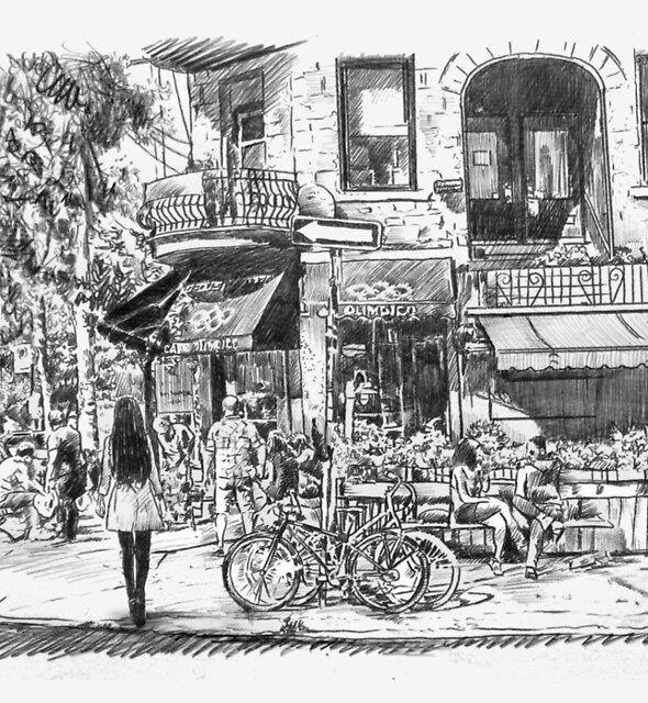 street scene by Loui  Jover