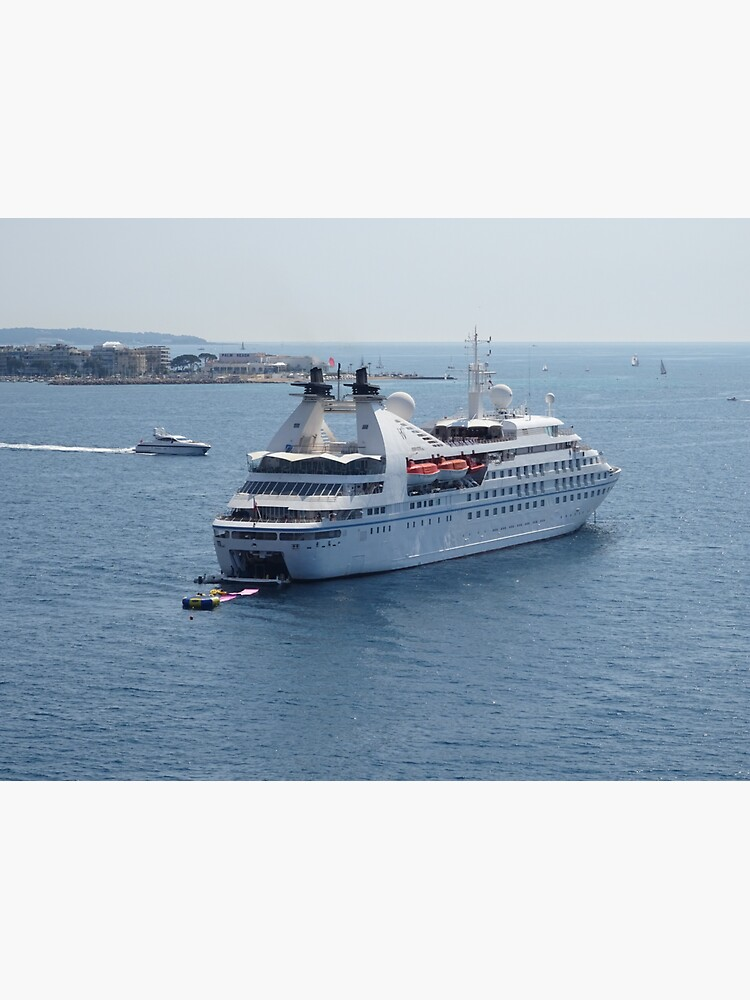 Ship and a cruise in Mediterranean sea by santoshputhran