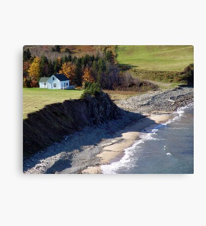 A Home By The Sea Canvas Print