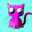 Kawaii pink curly cat by M-Lorentsson