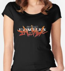 EVANGELION Logo Women's Fitted Scoop T-Shirt