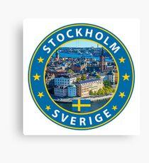 Stockholm, Stockholm t shirt, Stockholm sticker, with photo Canvas Print