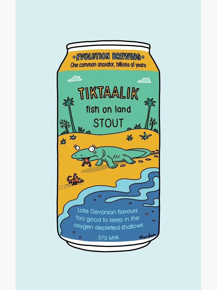 Evolution Brewing Tiktaalik Fish on Land Stout by morden