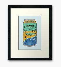 Evolution Brewing Tiktaalik Fish on Land Stout Framed Print