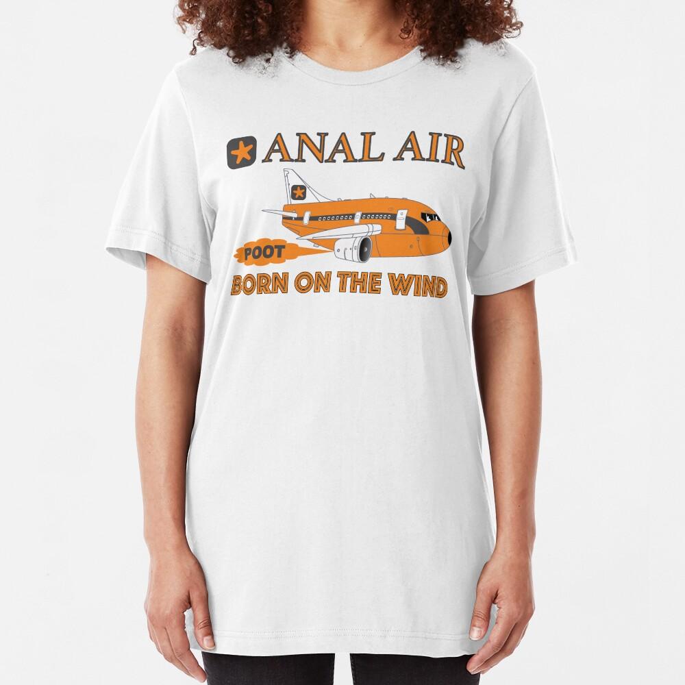 Fly ANAL AIR to Quahog International Airport. Slim Fit T-Shirt