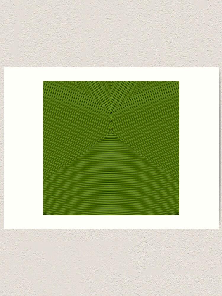 Alternate view of Line Green Art Print