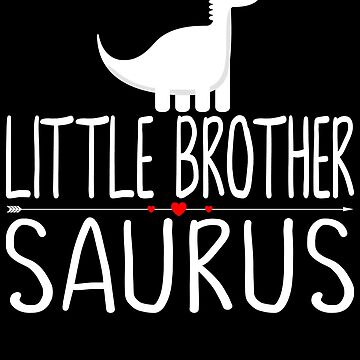 Little brother Saurus Red Heart by FutureInTheAir
