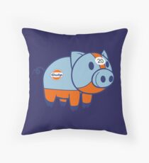 Gulp Pig Throw Pillow