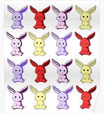 Miniature Rabbit Colour Poster