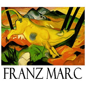 Franz Marc - The Yellow Cow by Chunga