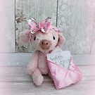 Piglet with love Teddy Bear Orphans by Penny Bonser