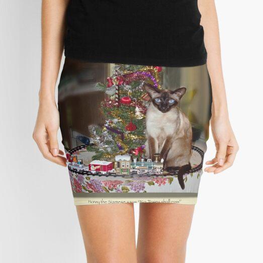 cat calendar #12 Honey for Christmas  Mini Skirt