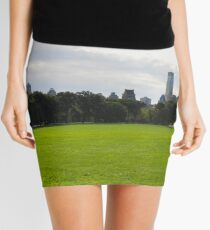Sheep Meadow in Central Park Panel 1 Mini Skirt