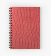 Red Knit Spiral Notebook