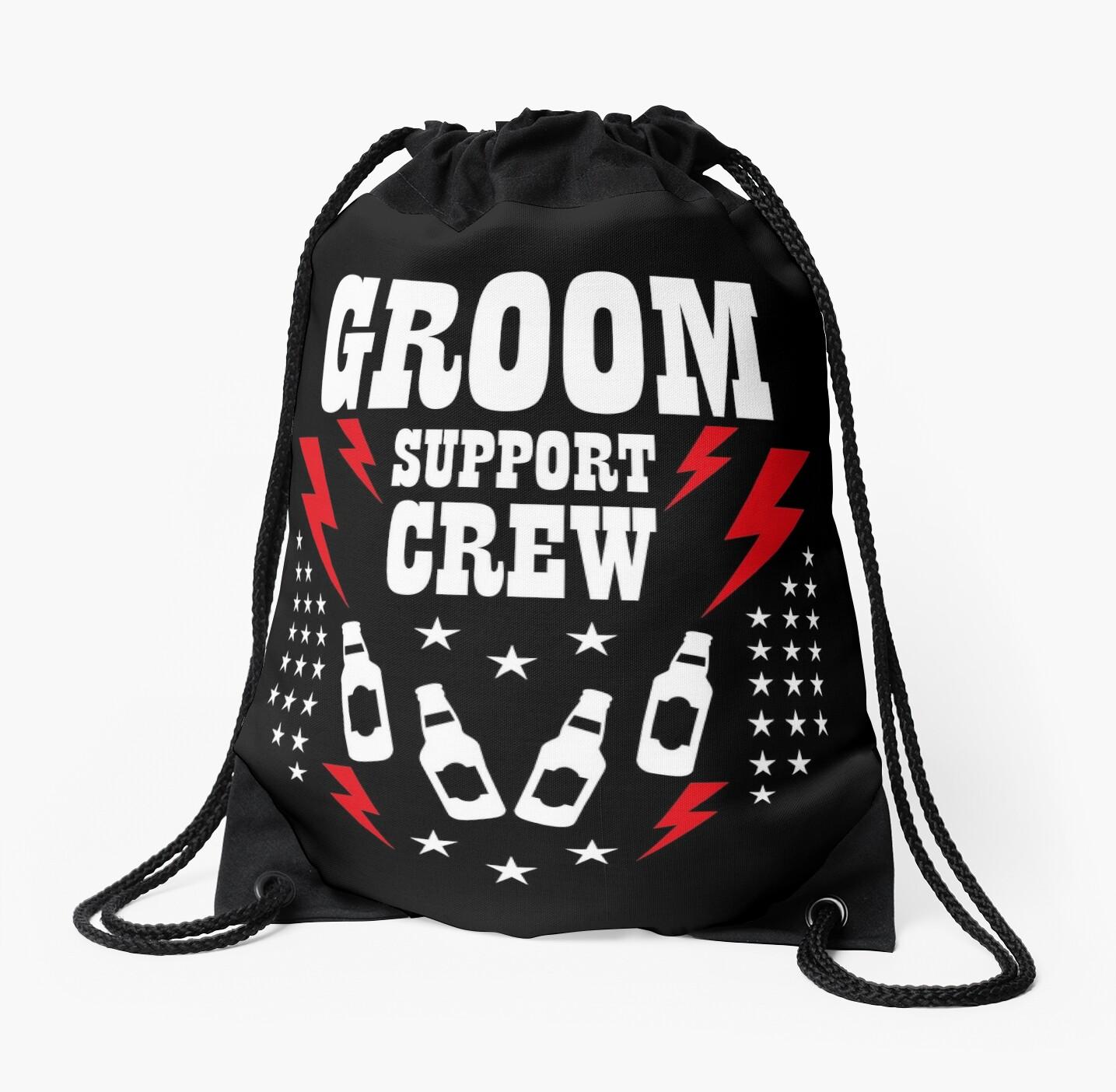 Groom Groom Support Crew Beer Lightning Star JGA 100 by Margarita-Art