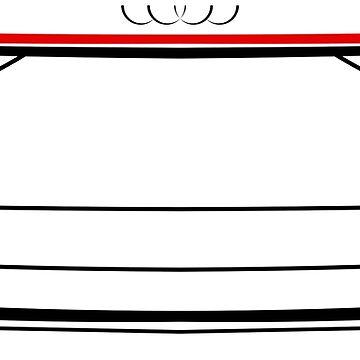Audi A8 D5 2017 Back White by Grafikus