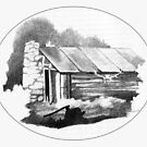 Stanfield Hut Te Whare Pikau by Patricia Howitt
