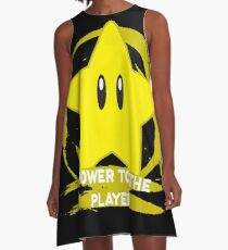 Gaming - Super Mario Bros Star - Power to the player A-Line Dress