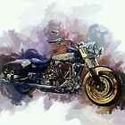 Classic Harley Painting by Ian Mitchell